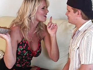 sexy bleached milf with large bossom drives