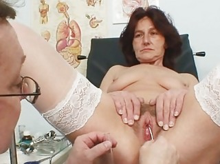 shaggy cave grandma visits pervy chick medic
