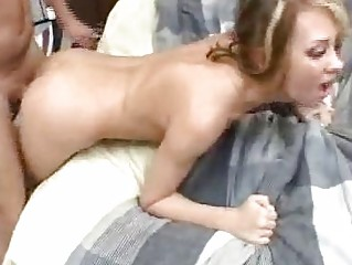 jeanie mia bends and spreads kitty for deep