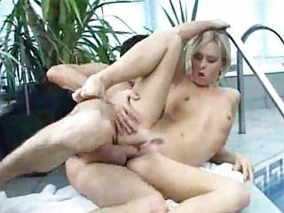 british nudist bangs by the swimmingpool