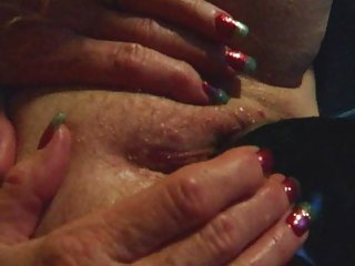 elderly young cougar housewife brown vibrator