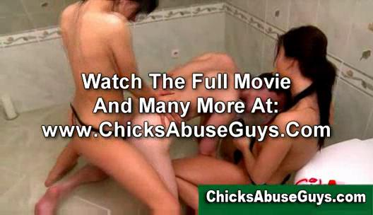 femdom strapon whores gangbanging a submissive boy