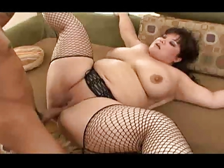 bbw eastern  tatoo lady bangs by dark dick
