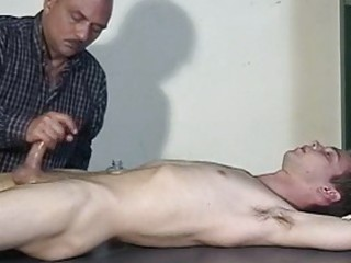a man is sleeping while his fellow jerking his