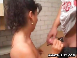 cougar young lady butt with facial cum