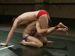 desperate gay hunks adore wrestling inside ring