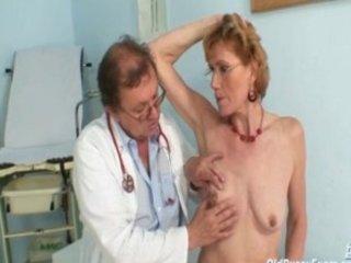 filthy granny angel mila needs gyno clinic