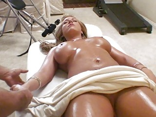 horny albino breast massage