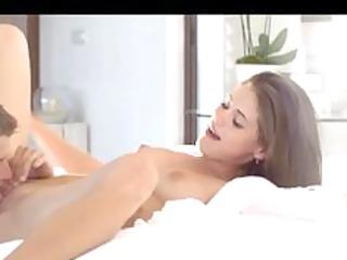 so sexy czech brunet drilling difficult