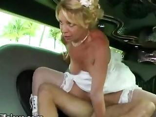 bride takes gangbanged into limno