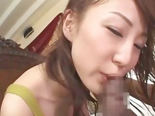 babe inexperienced asian chick mako eats his