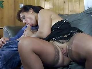 sweltering lady enjoying a hung boy