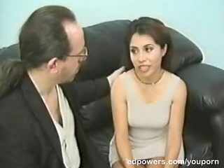 tight brunette moans during mouth and doggie