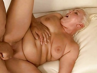 Fat granny getting her pussy fucked pretty hard